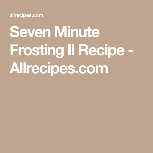 Seven Minute Frosting trending ideas on Pinterest | 7 minute frosting ...