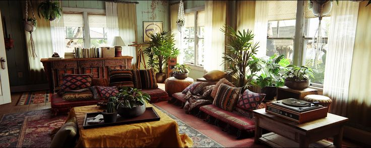 """Cozy living room in a beach house from the game """"Uncharted 4 - A thief's end"""". http://ift.tt/2cu0E4H"""