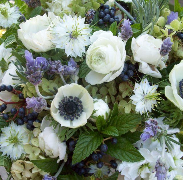 herb bouquet mint, thyme, rosemary, basil, nigella, love in a mist, lavender, privet berry, wild, textured bride, misty farms wedding, ann arbor michigan, sweet pea floral design, holly rutt
