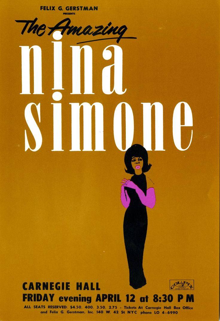 Nina Simone - Poster concert Carnegie Hall 1963