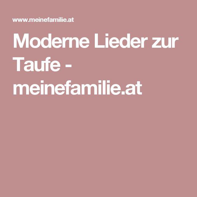 Moderne Lieder zur Taufe - meinefamilie.at