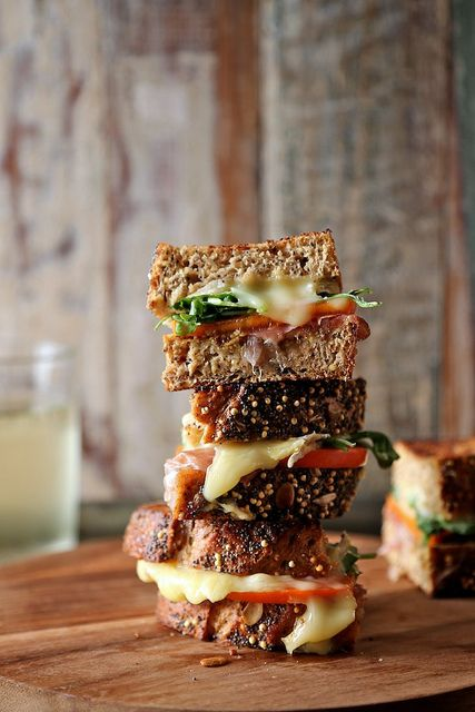 Persimmon Prosciutto and Brie Grilled Cheese by joy the baker, via Flickr #food #recipe