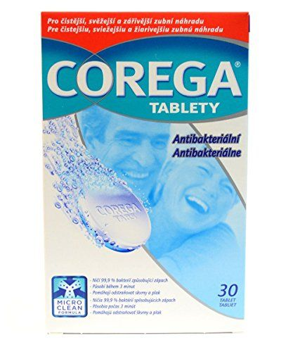 This is original #Corega denture cleaning pack including 30 tabs - highly effective cleaning tablets for your dental prosthesis. With regular use twice a day, th...