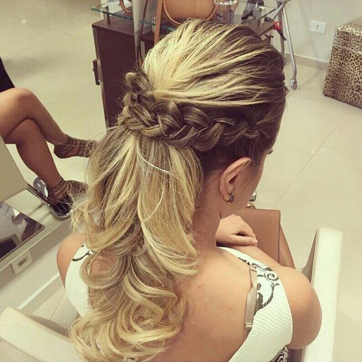 Trança penteado