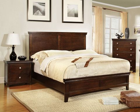 Modena Transitional Platform Bed.
