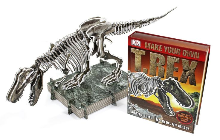 Make Your Own T-Rex, perfect craft for the boys.  No glue and no mess here - 80 sturdy 'bones' slot together to make an amazing T-Rex skeleton that stands at almost 1 metre long. Dino bones come on sturdy card boards allowing for bones to be easily pushed out for construction.  $35 at Kids Toys to You. www.kidstoystoyou.com.au