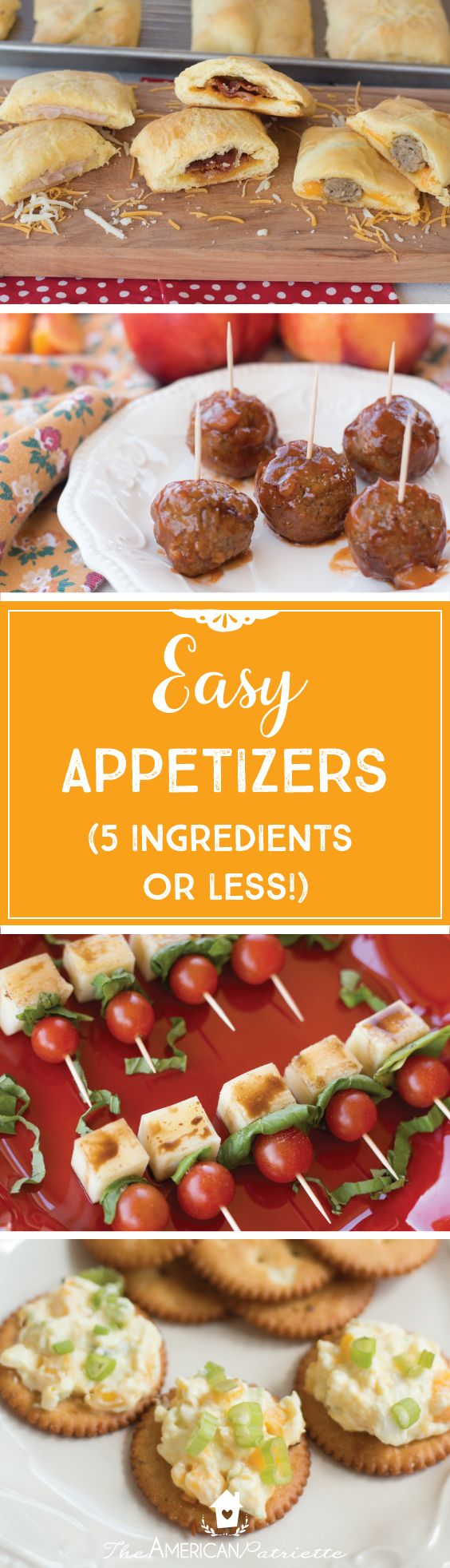 Easy Appetizer Recipes; Simple Appetizers; Easy Snacks; Tailgating Recipes; Football Party Recipes; Party Recipes