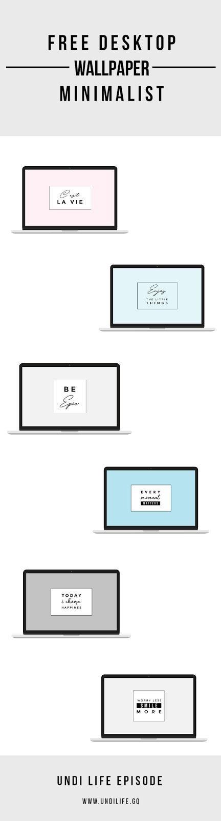 Free Minimalist Desktop Wallpaper | FREEBIE