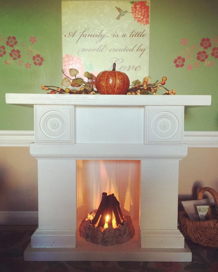 """24 Likes, 6 Comments - AGattheGoldsteins (@agatthegoldsteins) on Instagram: """"Happy 1st day of Autumn!!! I brought out the fall decor and lit a fire in the dollhouse fireplace.…"""""""
