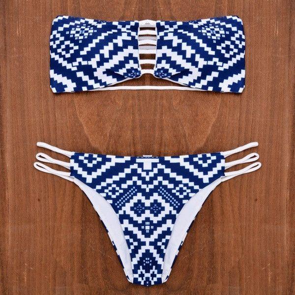 sexy women padded strapless bikini set bikini brazilian swimwear swimsuit bathing suit