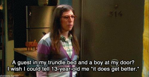 "No matter how hard her life was as a teenager, she powered through. | Community Post: 16 Reasons Amy Farrah Fowler Is The Best Part Of ""The Big Bang Theory"""