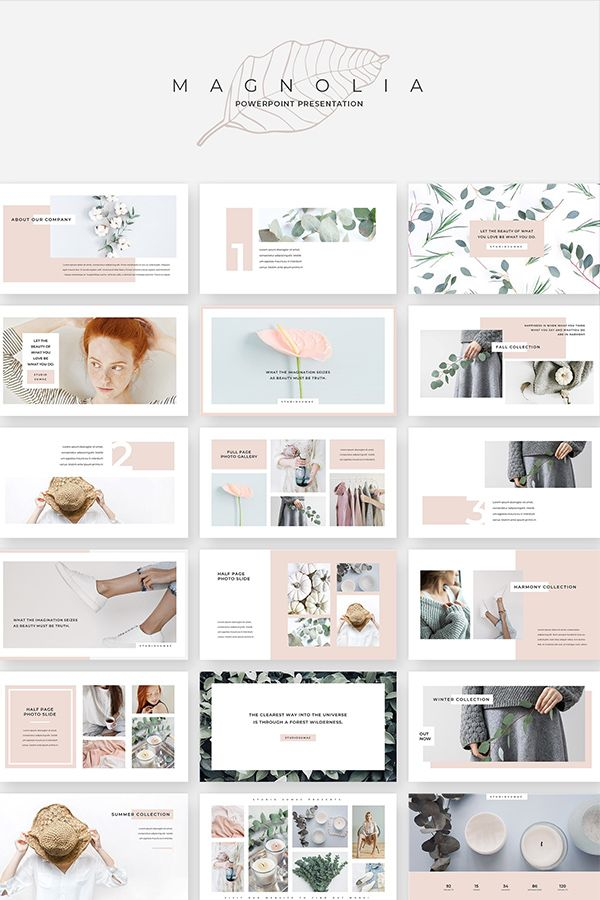 Magnolia Powerpoint Presentation Powerpoint Presentation Design Portfolio Design Layout Presentation Design Layout