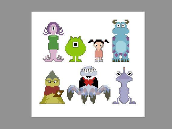 Monsters Inc. Pattern BUNDLE Monsters Inc & by CheekySharkLabs