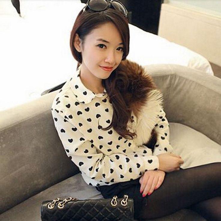 Hot verão Retro mulheres botão Chiffon blusa de impressão camisa roupas em Blusas de Moda e Acessórios no AliExpress.com | Alibaba Group