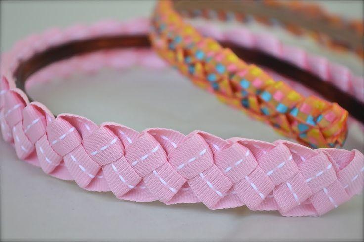 How to make ribbon headbands for little girls!