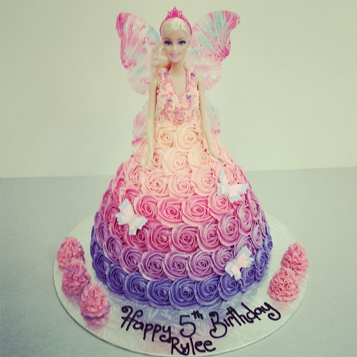 Purple and pink Ombre Roses, Fairy Cake