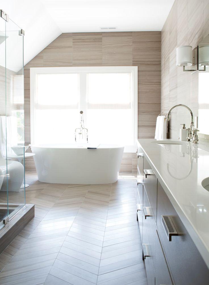 Bathroom vanity mirror lighting: Presidio Oval Sconce, designed by Barbara  Barry for Boyd Lighting. Interior design by Lisa Friedman Design.