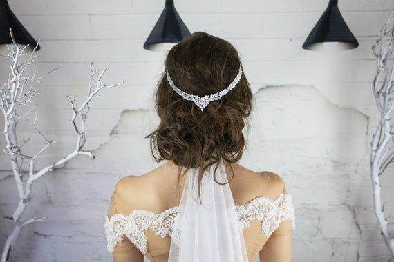 Wedding Hair Piece, Crystal Headpiece Bridal Headpiece, Crystal Headband Wedding Hair Jewelry, Brida