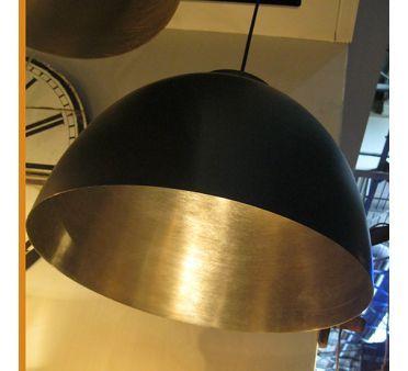 Suspension style industriel Argent et noir Contrast