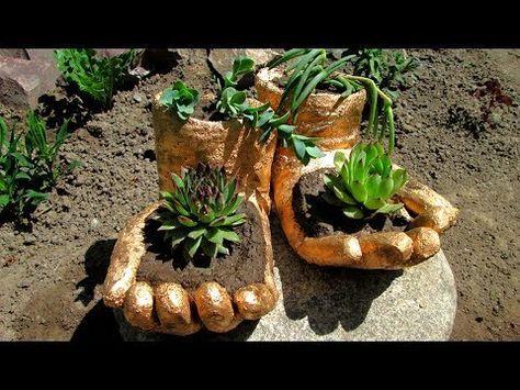 Pflanzenkübel Und Windlichter Aus Beton Kaffee Oder Tee Youtube
