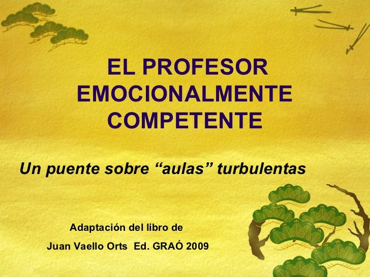 El profesor emocionalmente competente