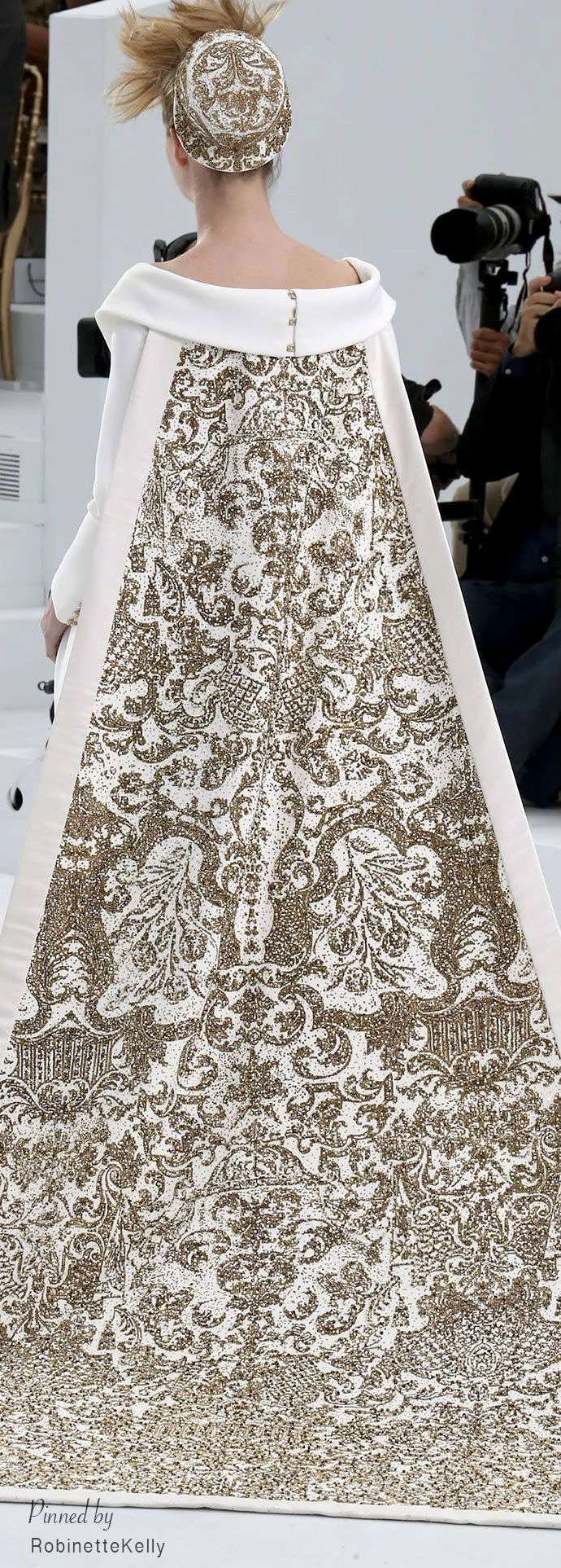 Chanel Haute Couture | F/W 2014-15~ elaborate gold thread embroidery is featured in this collection
