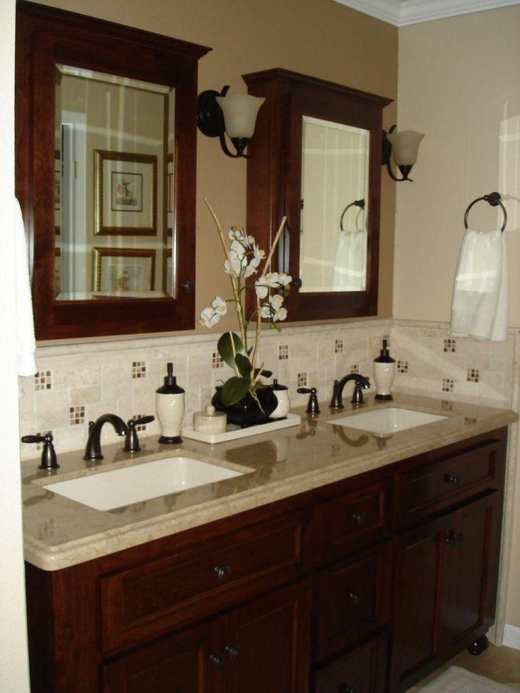 Best 25+ Vanity backsplash ideas on Pinterest | Bathroom renos ...