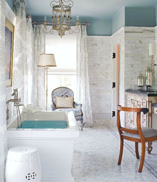 for the perfect side table to your bathtub itu0027s lightweight easy to move and easy to clean see more of our favorite decorating ideas for classic