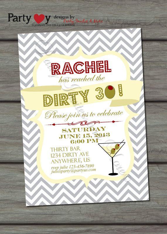 Dirty Thirty Birthday Invitation