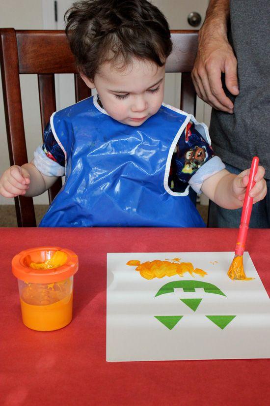 Easy Toddler Halloween Art - Happiness is Homemade