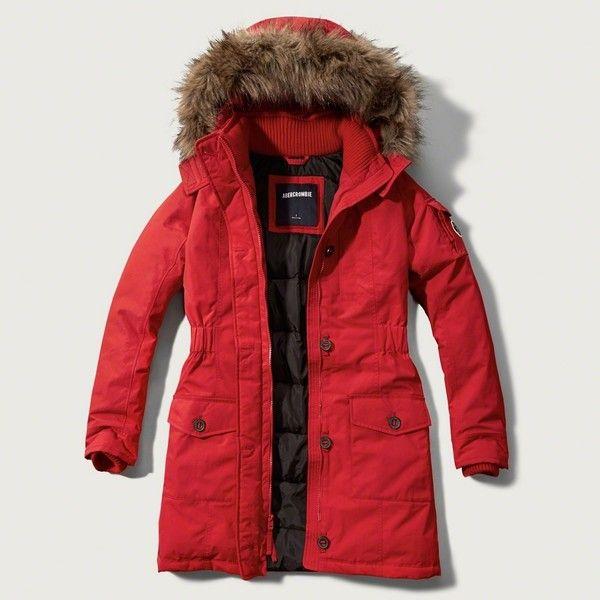Ladies Red Parka Jacket | Fit Jacket