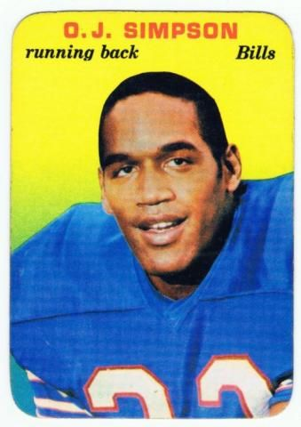 #2 RB #6 O.J.Simpson 1969	1977 Careful, he may have an hour to kill. O.J. Simpson, Buffalo Bills (Football Card) 1976 Topps #300 by Topps.