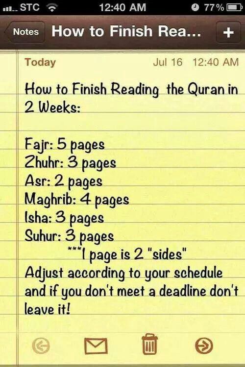 Reading Al Quran