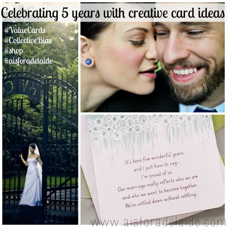 Celebrating 5 Years with Creative Card Ideas #Valuecards #aisforadelaide #shop #weddinganniversary #collectivebias #cbias