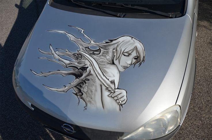 Car airbrush - Clara ( Death Vigil ) by nopik.deviantart.com on @DeviantArt