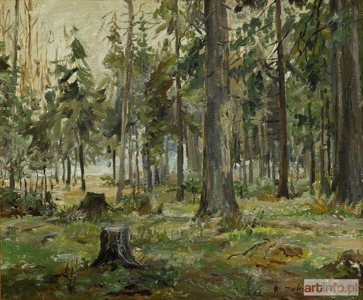 Włodzimierz ZAKRZEWSKI ● Wycinka w lesie, 1953 r. ●