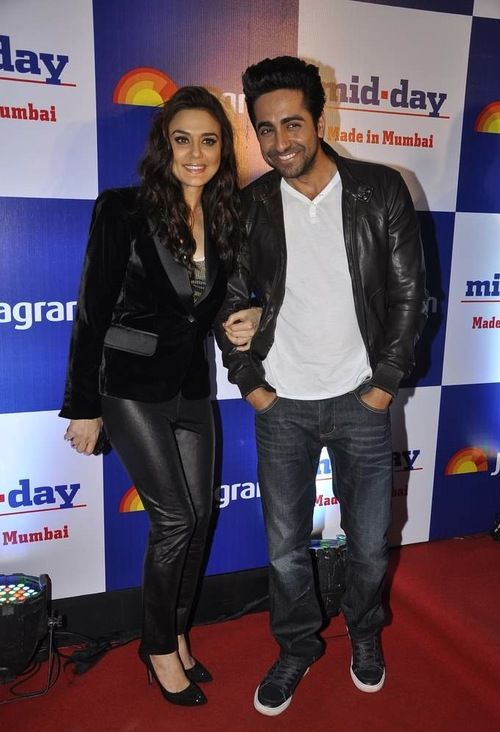 Preity Zinta and Ayushmann Khurrana at the launch of Mid-Day