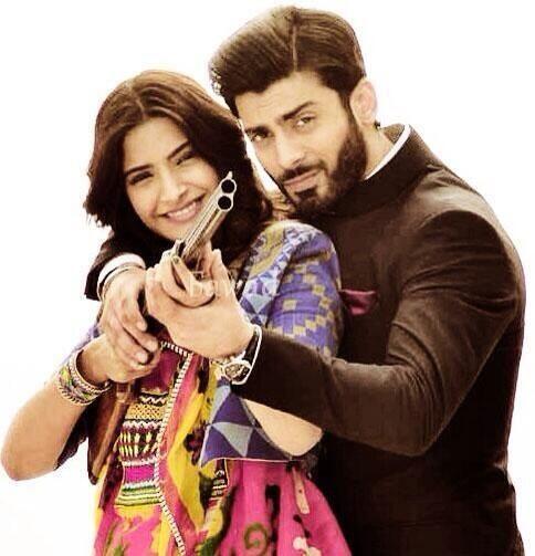 Sonam Kapoor & Fawad Khan on the sets of Khoobsurat | PINKVILLA