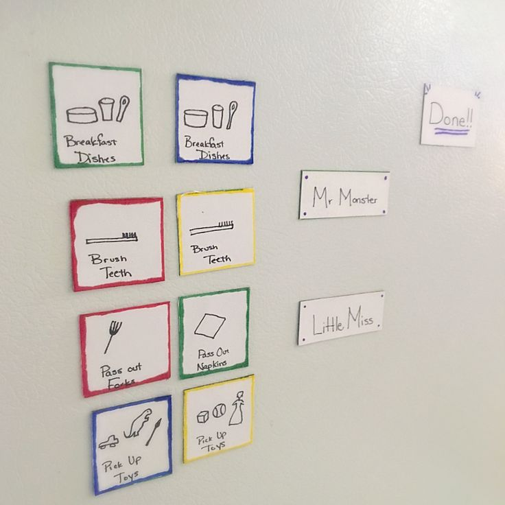 Easy Toddler Chore Chart. Simple craft using magnets to help get your kids to help you clean.