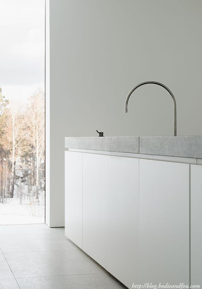 White Contemporary Kitchens by John Pawson http://blog.bodieandfou.com/
