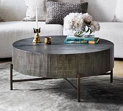 Brockton Metal Wrapped Coffee Table, Antique Gold