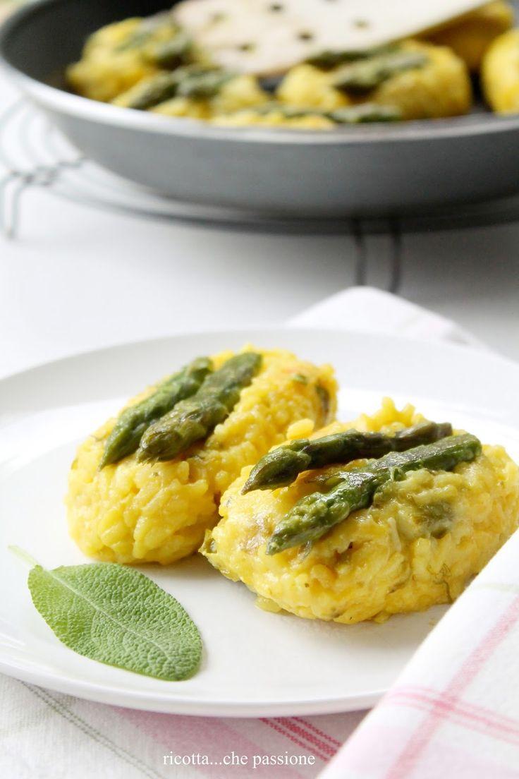 ricotta...che passione: Polpette di risotto con gli asparagi