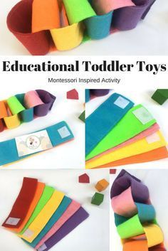 Montessori activities for Toddler - educational toddler toy - Toddler busy bag - Travel toys for toddler-Felt toddler activity #Toddlerplay #toys #gifts #ad