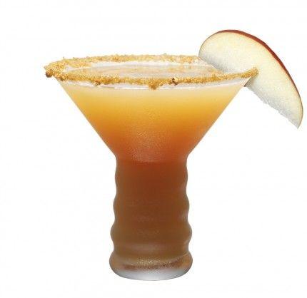 Spiced Caramel Apple Martini ~ Domaine de Canton ginger liqueur, Dutch Caramel Vodka, Apple cider, and a dash lemon juice