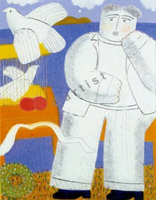 Φαίδων Πατρικαλάκις, Χωρίς τίτλο, 2001, λάδι σε μουσαμά