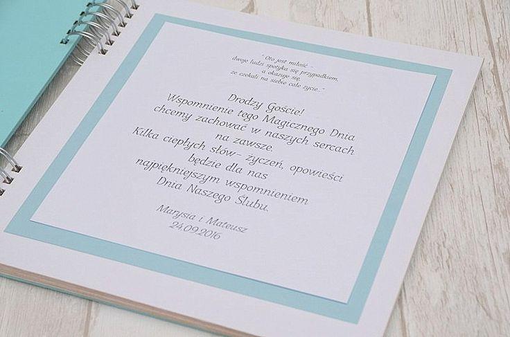 Pierwsza strona w księdze gości to ważna sprawa! Grunt, to zachęcić gości do wpisów :)  Księga gości dostępna w Madame Allure.