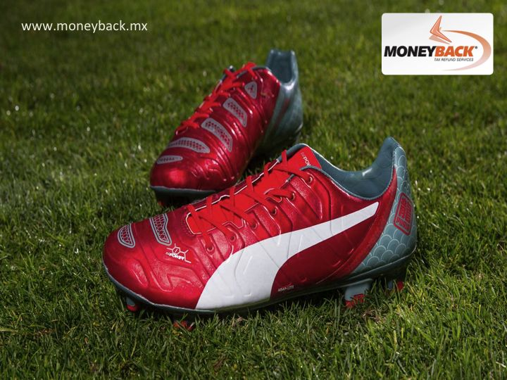 MONEYBACK MEXICO.The DRAGON EVOPOWER 1.2 soccer shoewith afoam-coating surface in the area of impact is designed to improve the relationship between foot and ball. It's a shoe designed to give greater power and shooting precision. PUMA Mexico is a Moneyback affiliated store. #moneybackwww.moneyback.mx