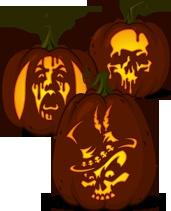 Pumpkin Carving Patterns from Zombie Pumpkins