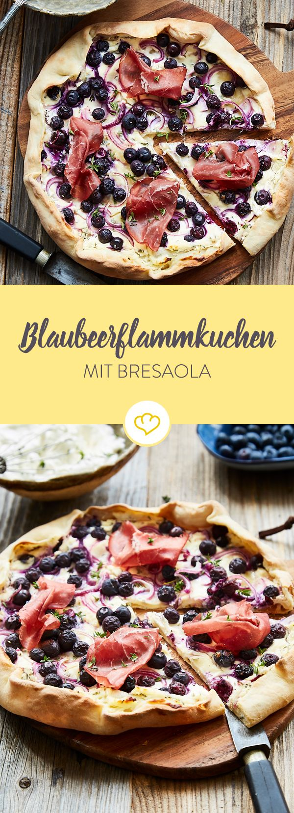 Süßer Apfelflammkuchen ist gut, Blaubeerflammkuchen noch besser. Woran das liegt? Ganz klar - an der Kombination mit Zwiebel und ein paar Scheiben Bresaola.