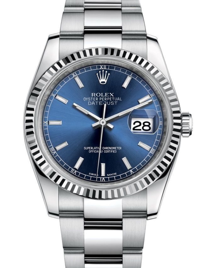 Rolex Datejust 36 watch in White Rolesor - combination of 904L steel and 18 ct white gold. Model: 116234 $7,850